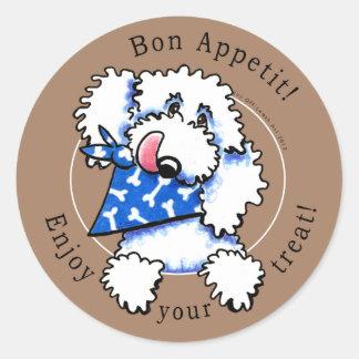 ¡Bon Appetit del perro! El mascota trata las Pegatinas Redondas