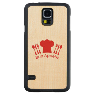 Bon Appetit Elegant Chef Hat Carved Maple Galaxy S5 Slim Case