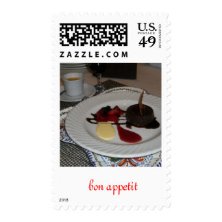 Bon Appetit ....for the dessert lover Postage Stamp