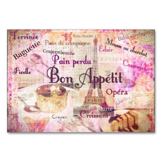 Bon Appetit French cuisine words and pictures Card