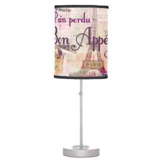 Bon Appetit French cuisine words and pictures Table Lamp
