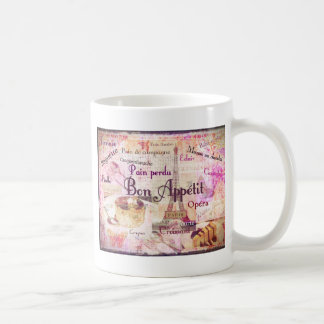 Bon Appétit French food words KITCHEN  art decor Coffee Mug