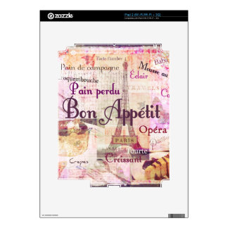 Bon Appétit French food words KITCHEN  art decor Decal For The iPad 2