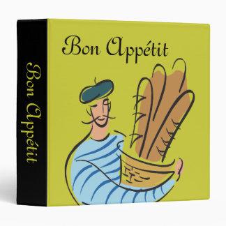 Bon Appétit French Recipes Binder Vinyl Binder