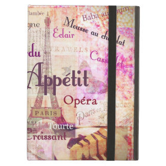 Bon Appetit French Style food words Paris theme iPad Air Cover