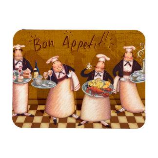 Bon Appétit Imán Foto Rectangular