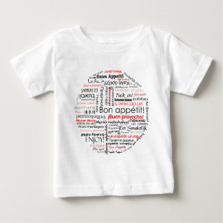 Bon appetit in many different languages typography baby T-Shirt