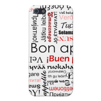 Bon appetit in many different languages typography iPhone SE/5/5s case