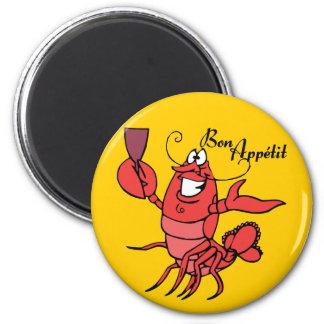Bon Appetit Lobster 2 Inch Round Magnet