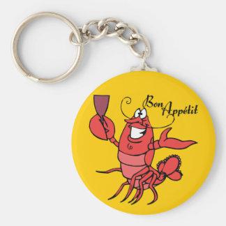 Bon Appetit Lobster Basic Round Button Keychain