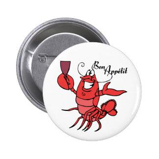 Bon Appetit Lobster Pinback Button