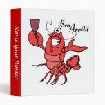 Bon Appetit Lobster Recipe Binder Binders