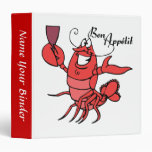 Bon Appetit Lobster Recipe Binder Vinyl Binder