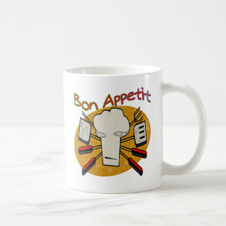 Bon Appetit Classic White Coffee Mug