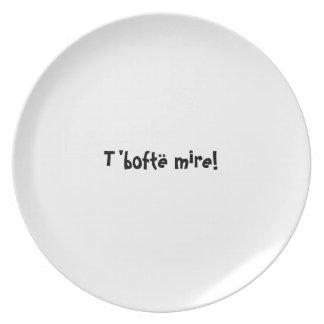 Bon appetit plate series - Albanian - T'boftë mire
