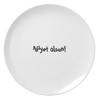 Bon appetit plate - Turkish - Afiyet olsun