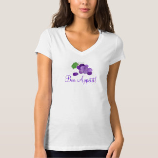 Bon Appetit Purple Grapes on a Tshirt