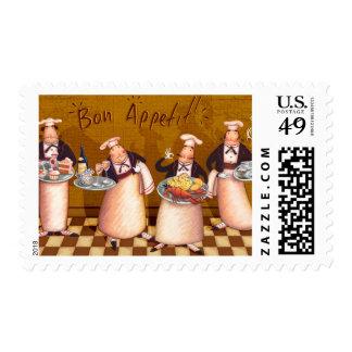 Bon Appétit Sello Postal