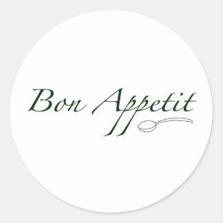 Bon Appetit Classic Round Sticker