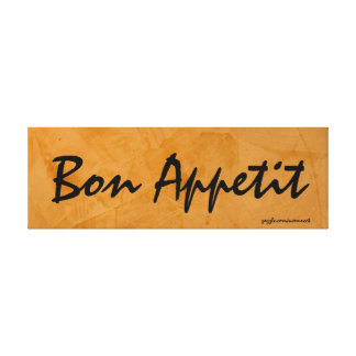 Bon Appetit Tuscan Orange Painting Gallery Wrapped Canvas