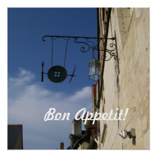 Bon Appetit!  Utensils Cafe Sign in France