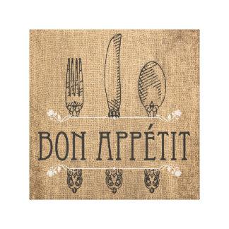 Bon appetit wrapped canvas