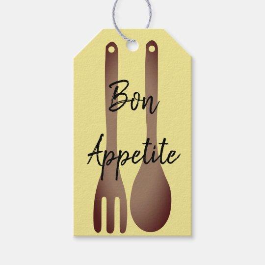 bon appetite food gift tags zazzle com