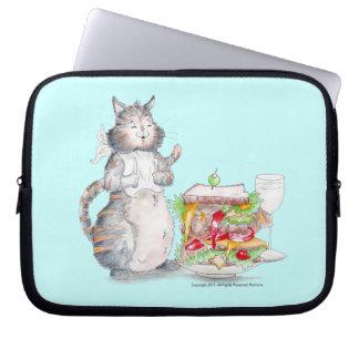 Bon Appitet Cat Laptop Sleeve