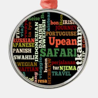 Bon Italian Irish Safari Hapanese Voyage Round Metal Christmas Ornament