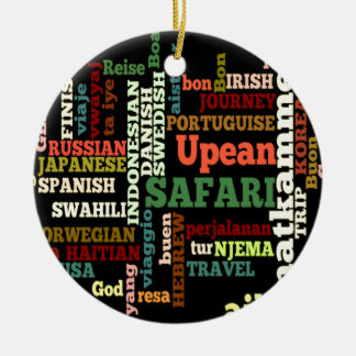 Bon Italian Irish Safari Hapanese Voyage Double-Sided Ceramic Round Christmas Ornament