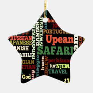Bon Italian Irish Safari Hapanese Voyage Double-Sided Star Ceramic Christmas Ornament