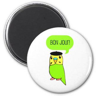 Bon Jour! 2 Inch Round Magnet