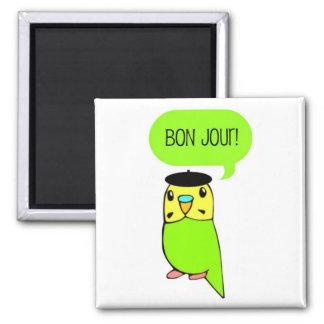 Bon Jour! 2 Inch Square Magnet