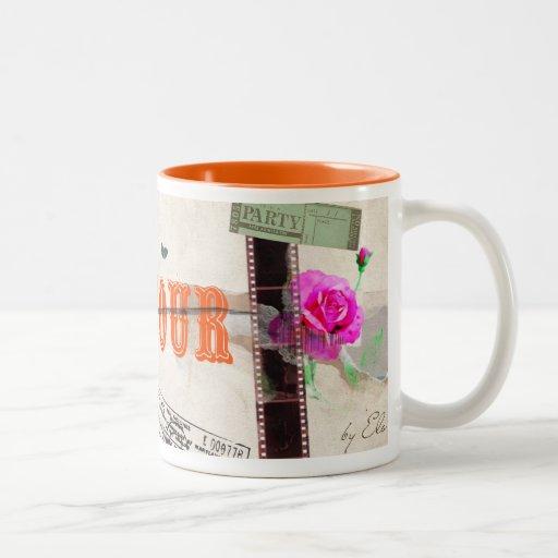 Bon Jour Two-Tone Coffee Mug