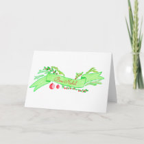 Bon Nadal, watercolor Christmas banner Holiday Card