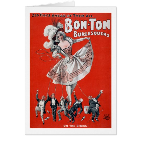 Bon Ton Burlesquers - Vintage Burlesque Poster Card