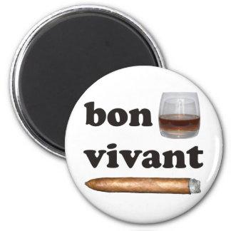 bon vivant Geniesser whisky Whiskey rum cigar Magnet