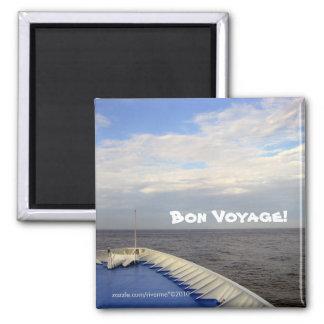 Bon Voyage! 2 Inch Square Magnet