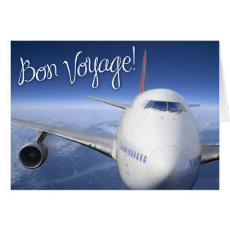 bon voyage! (airplane) card