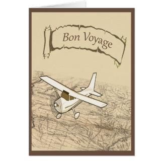 Bon Voyage Airplane Greeting Card