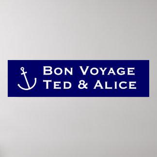 Bon Voyage Banner Posters