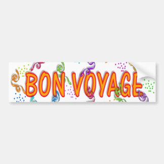 Bon Voyage Car Bumper Sticker