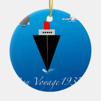 Bon Voyage Ceramic Ornament
