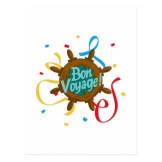 BON VOYAGE CONFETTI POST CARDS