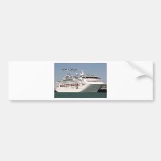 Bon Voyage: cruise ship 2 Bumper Sticker