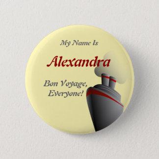 Bon Voyage Everyone Yellow Personalized Pinback Button