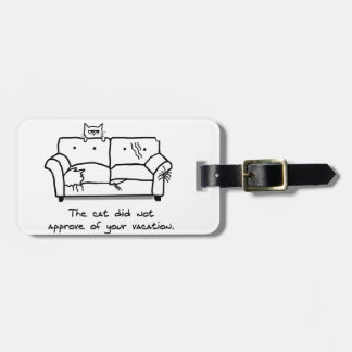 Bon Voyage from the Cat - Funny Cat Gift Luggage Tag