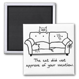 Bon Voyage from the Cat - Funny Cat Gift Magnet
