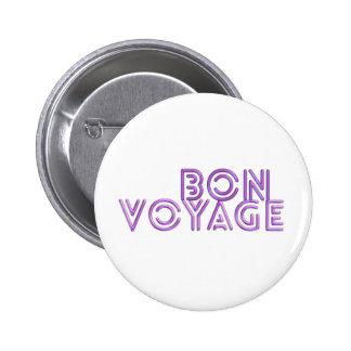 Bon Voyage fun pink greeting gift Pinback Button