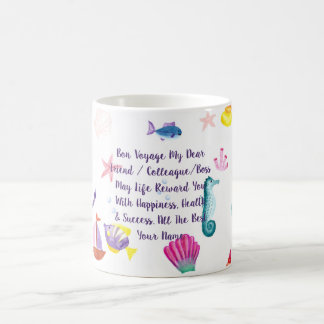 Bon Voyage Gift Personalized Sea Creature Themed Coffee Mug